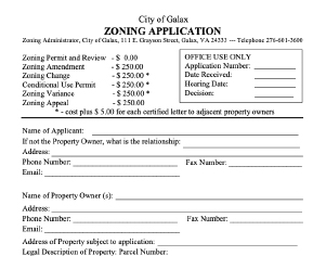Construction Permit Applications for Galax Virginia